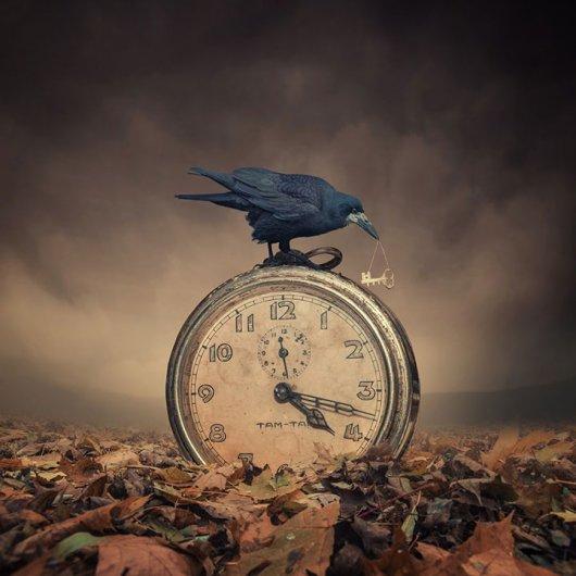 красивый фотомонтаж фотографий с часами