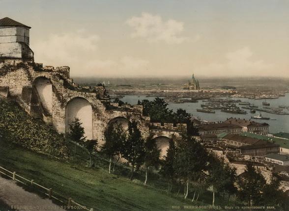 Неизвестный автор. Нижний Новгород. Вид с Кремлевского вала. 1900 – 1910-е