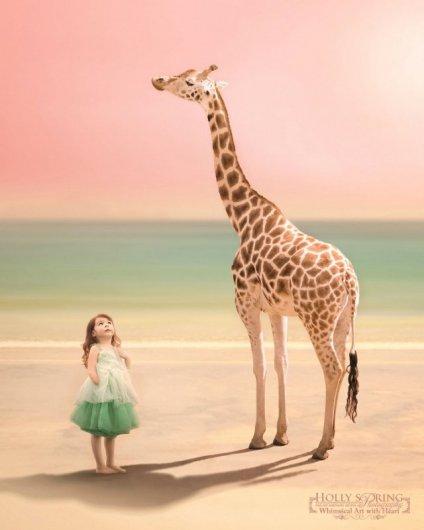 фото девочки-инвалида с жирафом