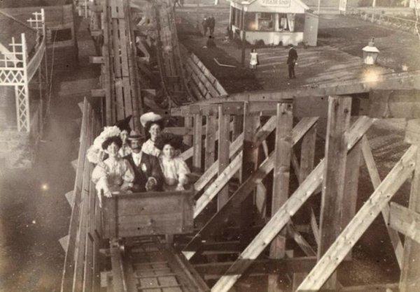 Первые американские горки. 1900г.