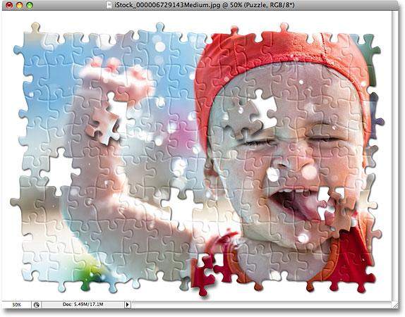 Пазл, созданный в Photoshop