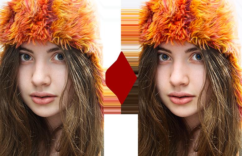 основы ретуши лица 6
