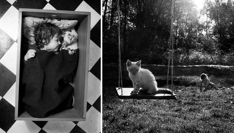 Семейные черно-белые фотографии Алена Лябуэля - №8