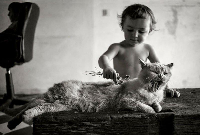 Семейные черно-белые фотографии Алена Лябуэля - №3