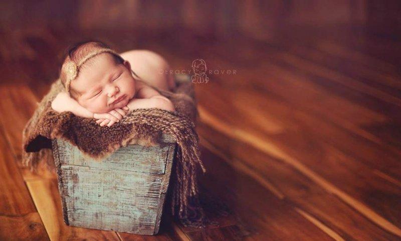 Спящие младенцы в фотографиях Трейси Рейвер - №11