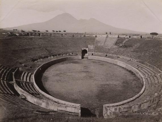 Джорджио Зоммер. Арена амфитеатра. Помпеи. 1870