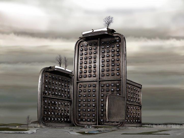 Архитектурные фантазии из домашних предметов - №13