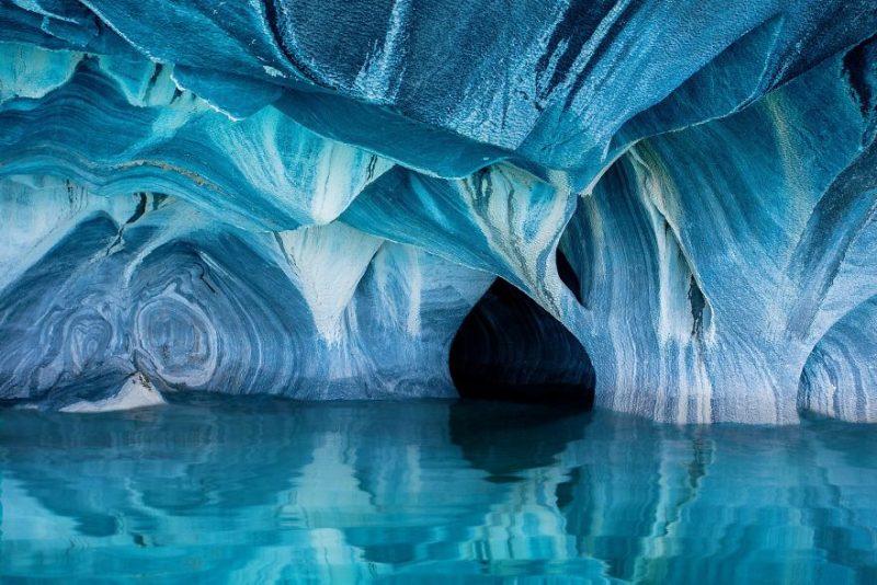 """Поощрительная премия в категории """"Природа"""": """"Мраморные пещеры"""", Чили, автор – Клейн Гессель"""