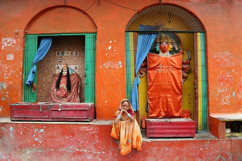 Женщина в Варанаси, Индия
