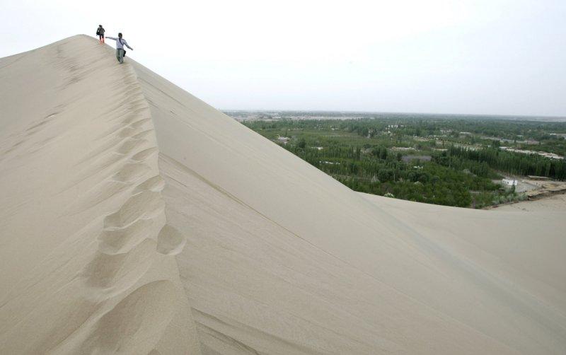 Красивые пейзажи китайской провинции Ганьсу - №15