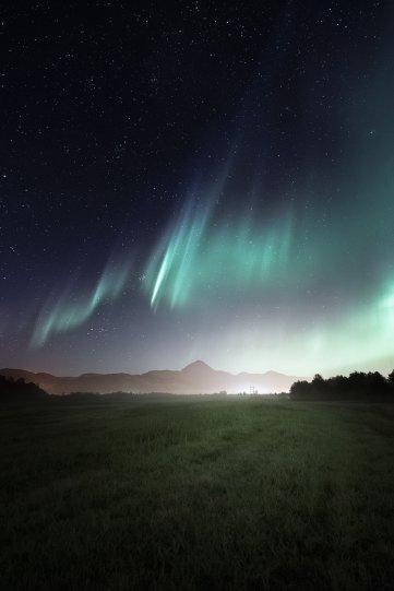 Полярное сияние над Норвегией - №11