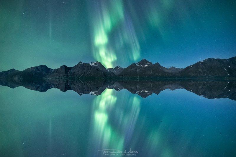 Полярное сияние над Норвегией - №1