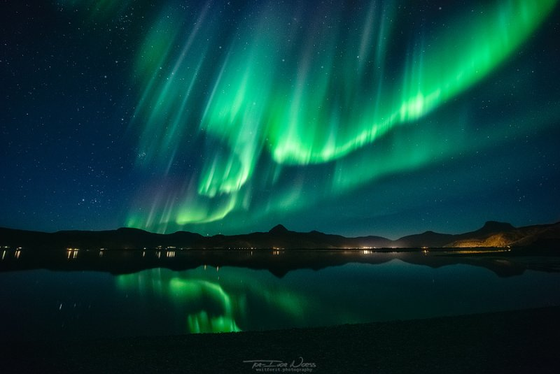 Полярное сияние над Норвегией - №2