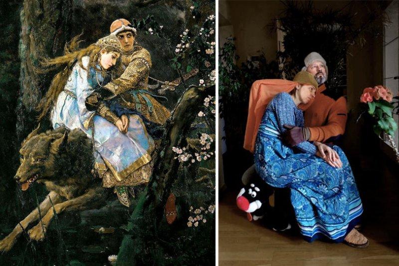 Люди изображают героев знаменитых картин - №11