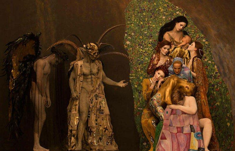 Модели воссоздают картины Гюстава Климта - №2