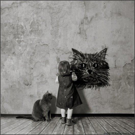 Девочка и Кот в интересном фото проекте - №14