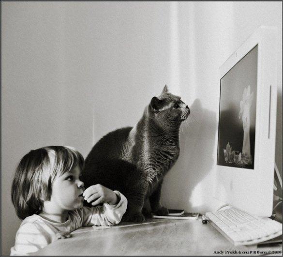 Девочка и Кот в интересном фото проекте - №26