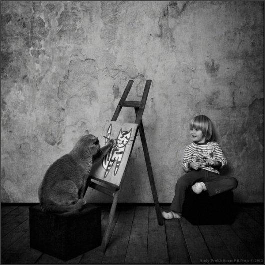 Девочка и Кот в интересном фото проекте - №4