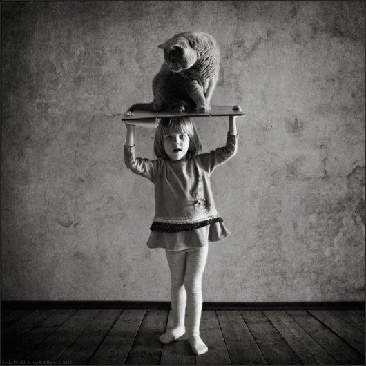 Девочка и Кот в интересном фото проекте - №8