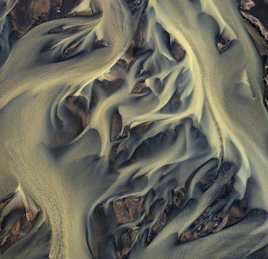 Воздушные красивые фото вулканических рек Исландии - №1