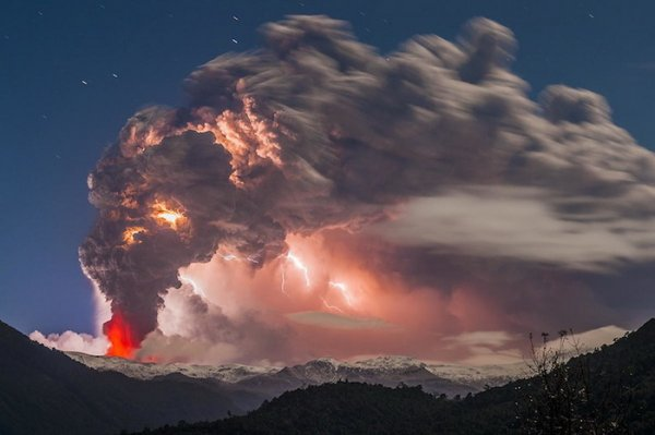 Лучшие фото кадры извержения вулканов мира - №1