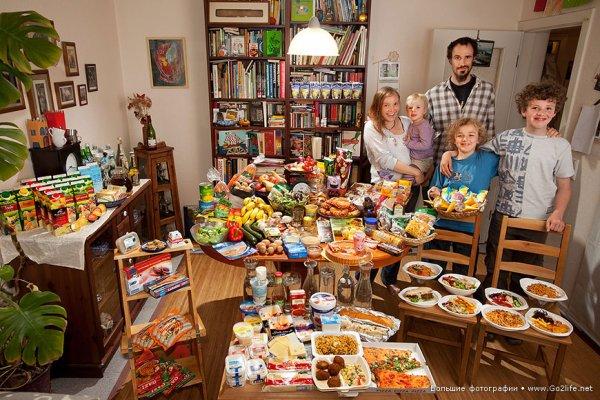 Недельный набор продуктов у разных народов в семейных фото - №8