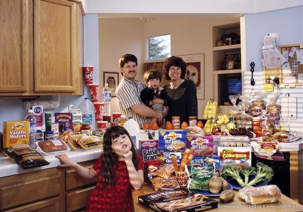 Недельный набор продуктов у разных народов в семейных фото - №16