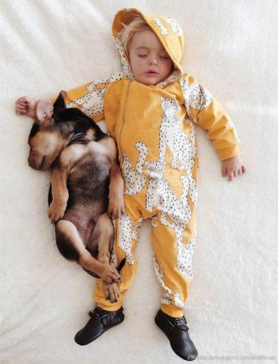 Милые дети и собачки - новый тренд Instagram - №24