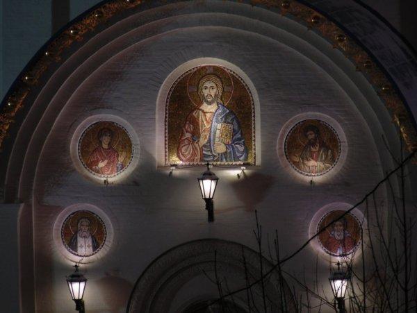 Фрагмент фасада православного храма.