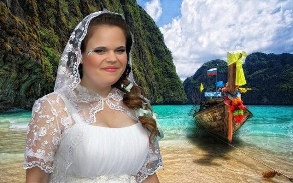 свадебные фотографии на природе