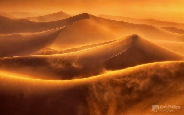 Красота природы - Буря в дюнах Долины Смерти