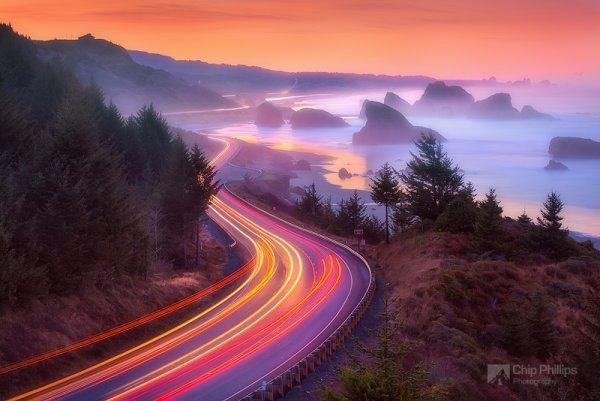 красота природы фото - Река на рассвете
