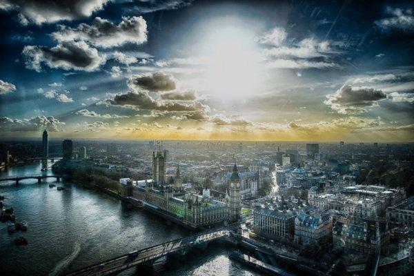 красивые городские пейзажи фото с облаками
