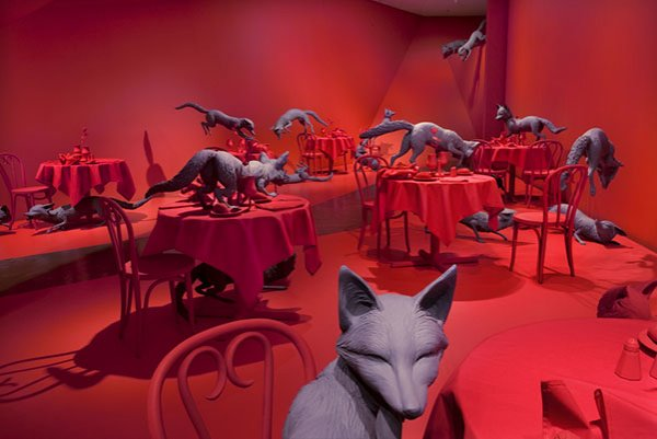 Fox games,1989 (re-installed denver art museum 2009)