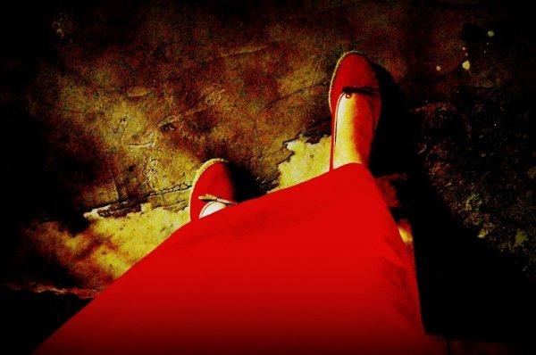 Два цвета - красный и золотой