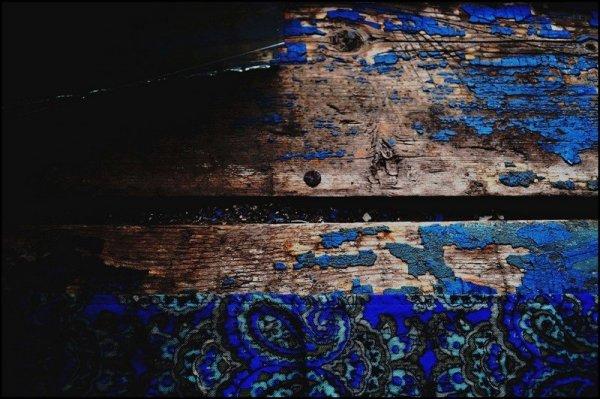 Синее узорное