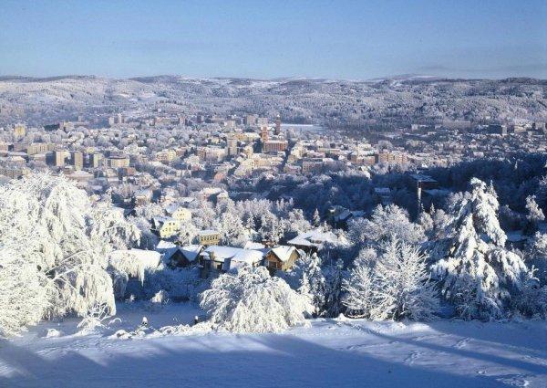зимний город картинки